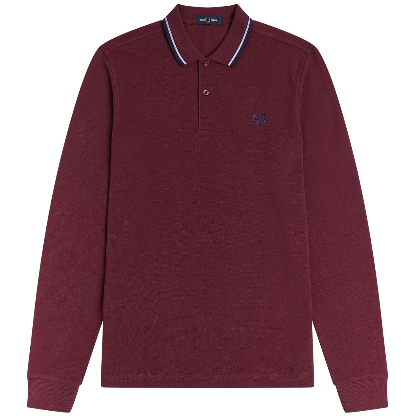 FRED PERRY Mod Long Sleeve Twin Tipped Polo (Au)