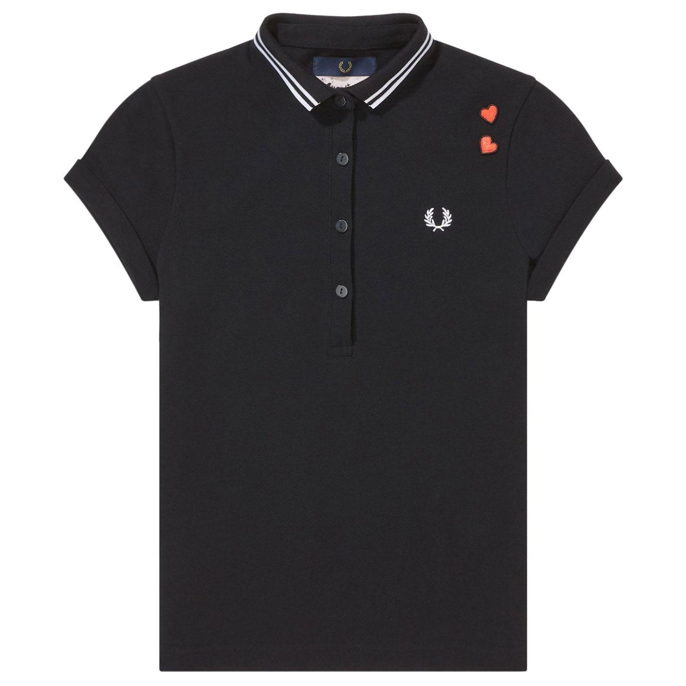 FRED PERRY Amy Winehouse Womens Tipped Polo Shirt