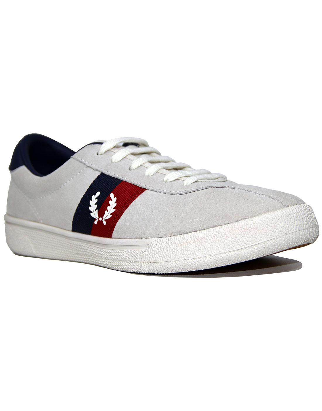 FRED PERRY B108 Retro Suede Tennis Trainers SW