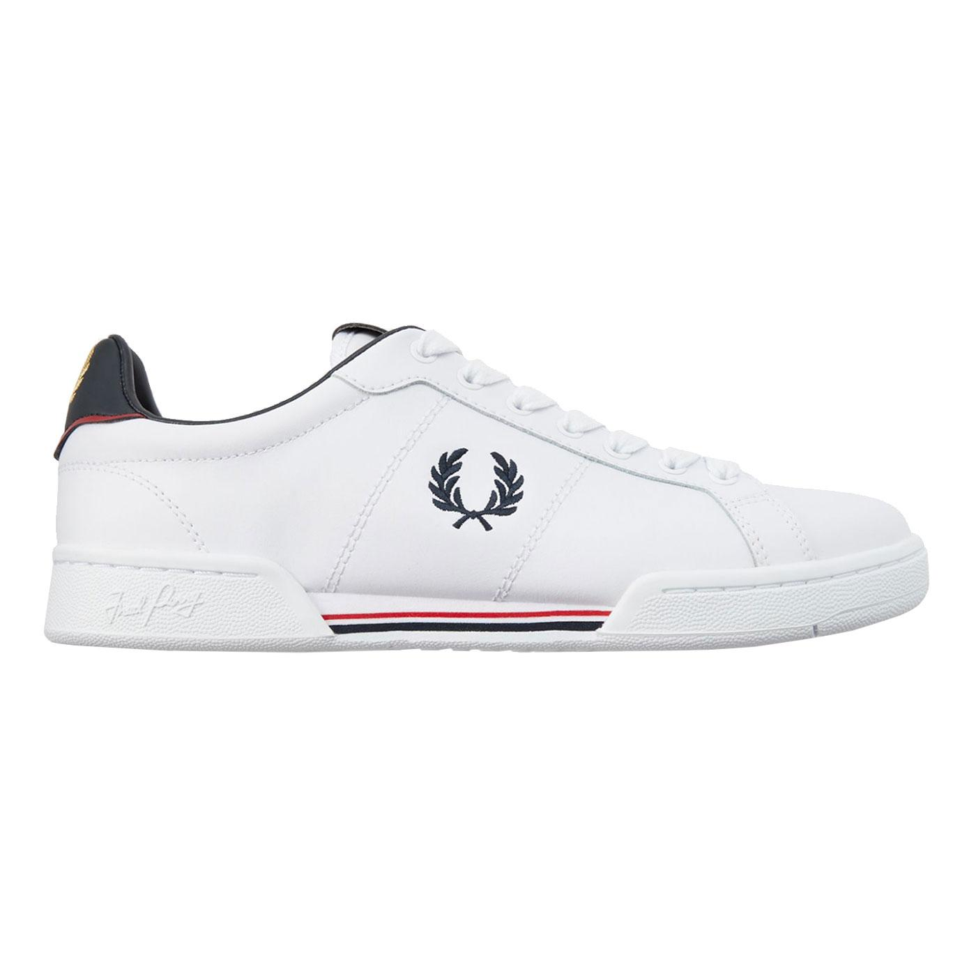FRED PERRY B722 Leather Retro Tennis Trainers
