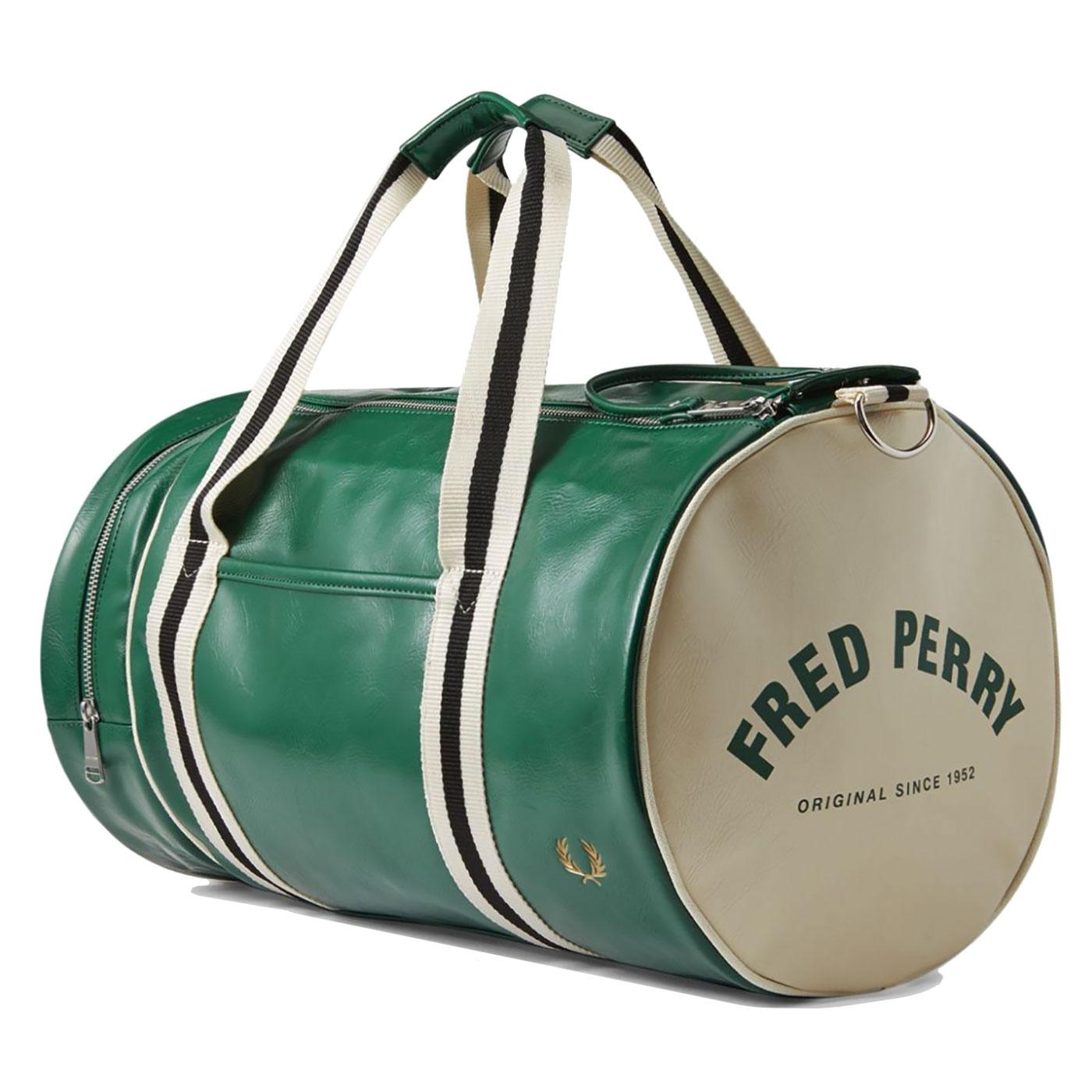 FRED PERRY Retro Classic Barrel Weekend Bag IVY