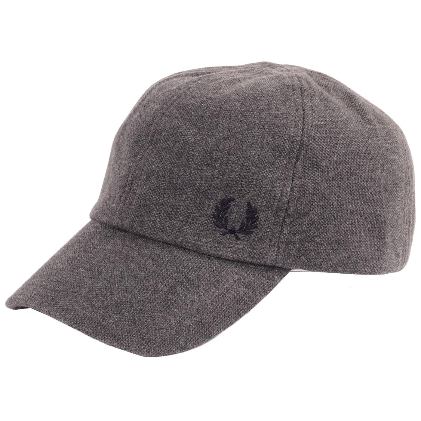 FRED PERRY Classic Pique Cap (Graphite Marl)