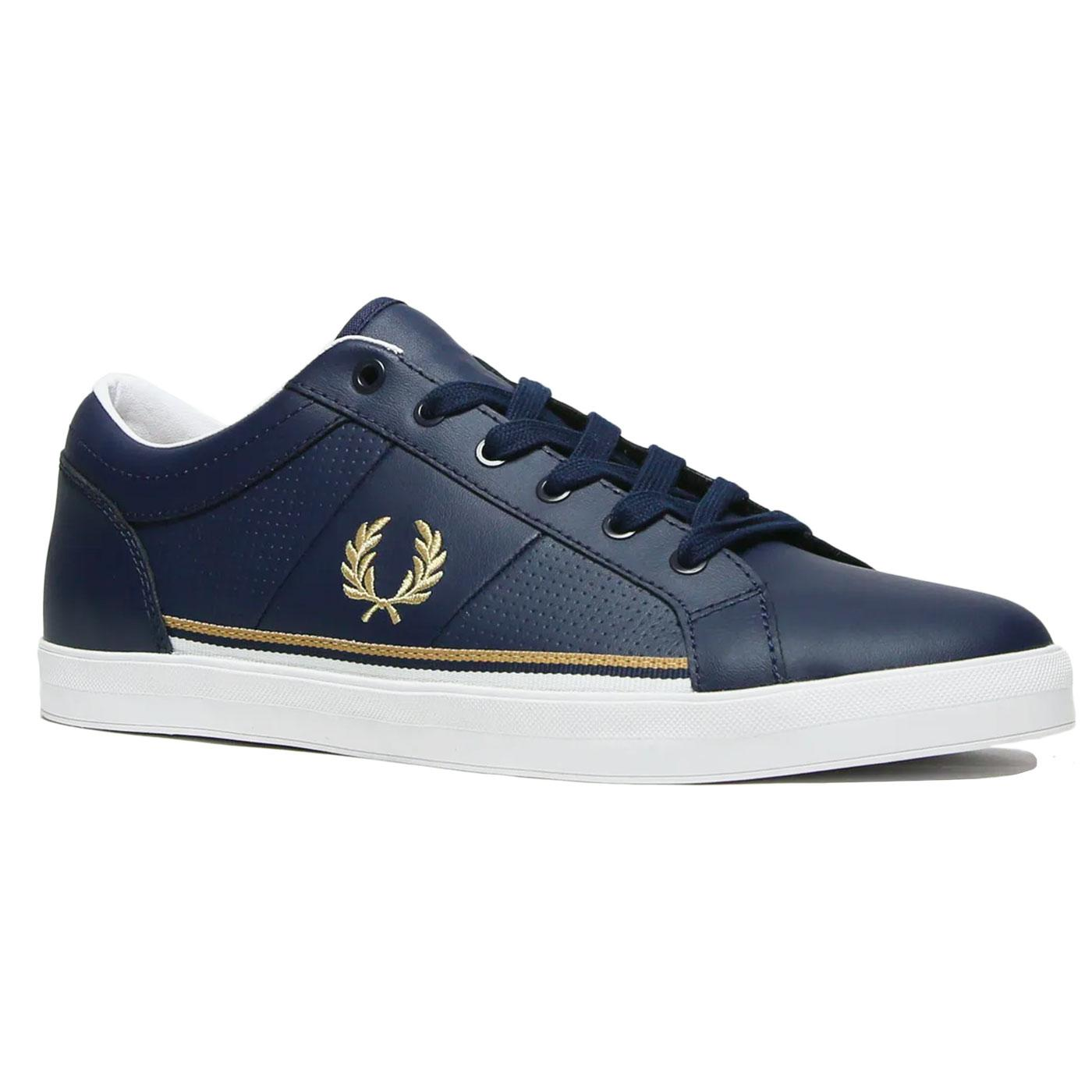 Baseline FRED PERRY Retro Perf Leather Trainers N