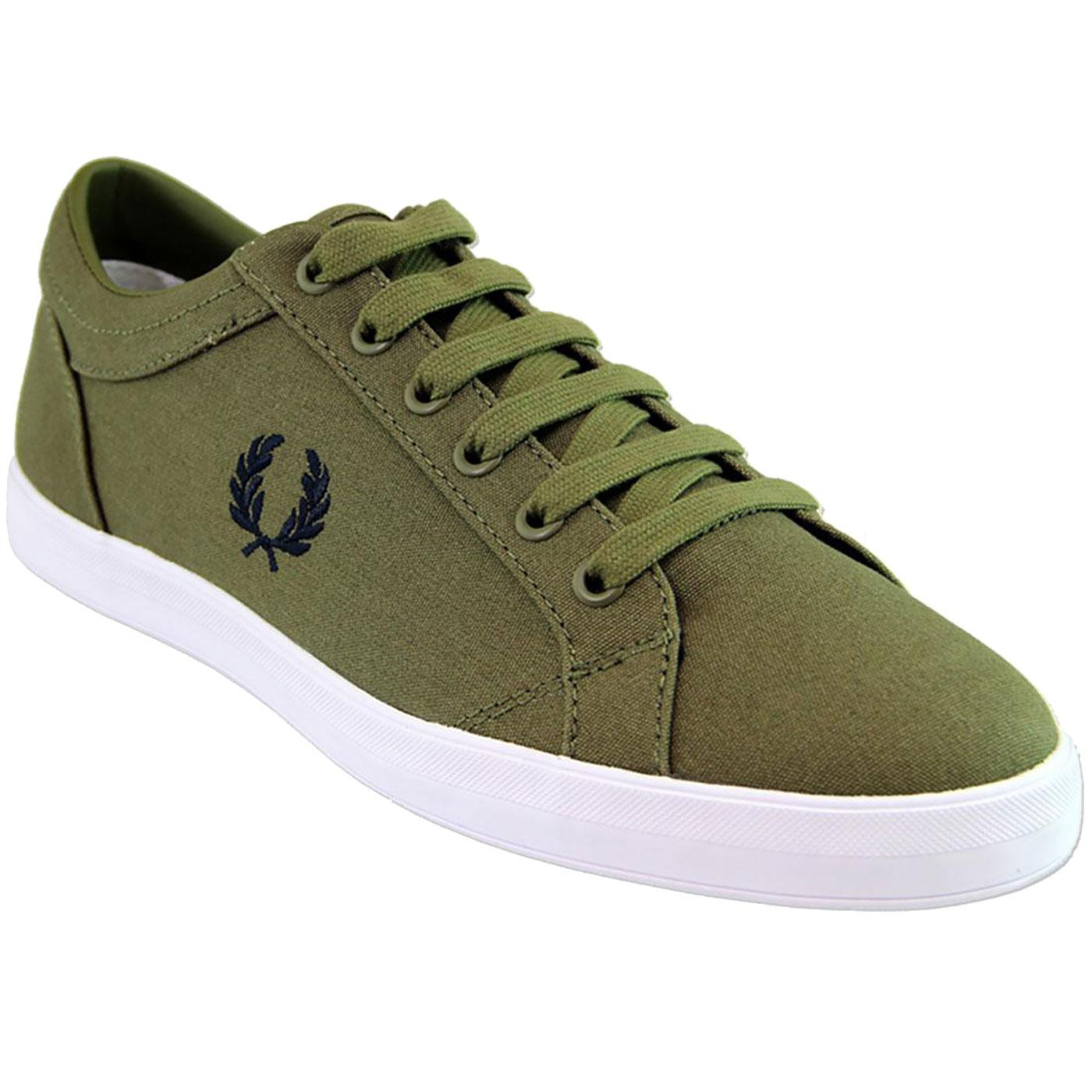 Baseline FRED PERRY Retro Casual Canvas Trainers O