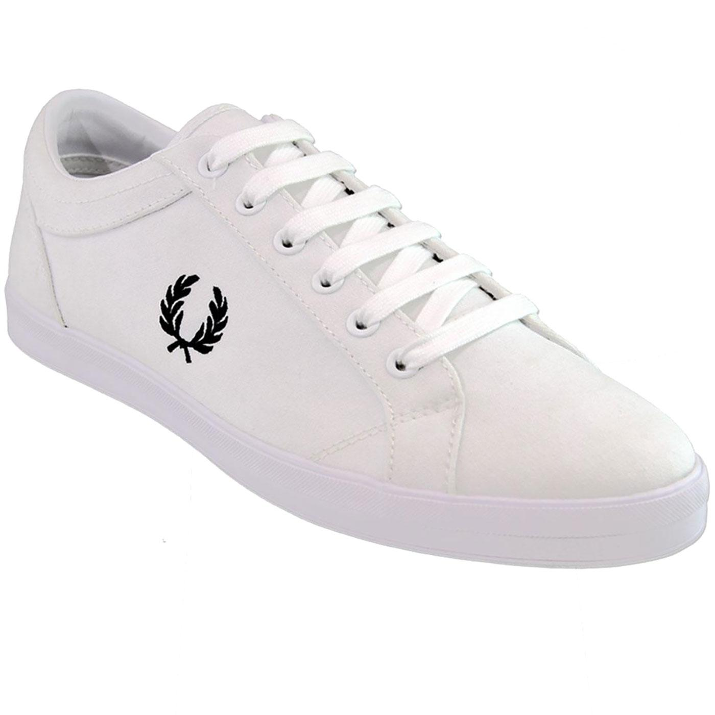 Baseline FRED PERRY Retro Casual Canvas Trainers W