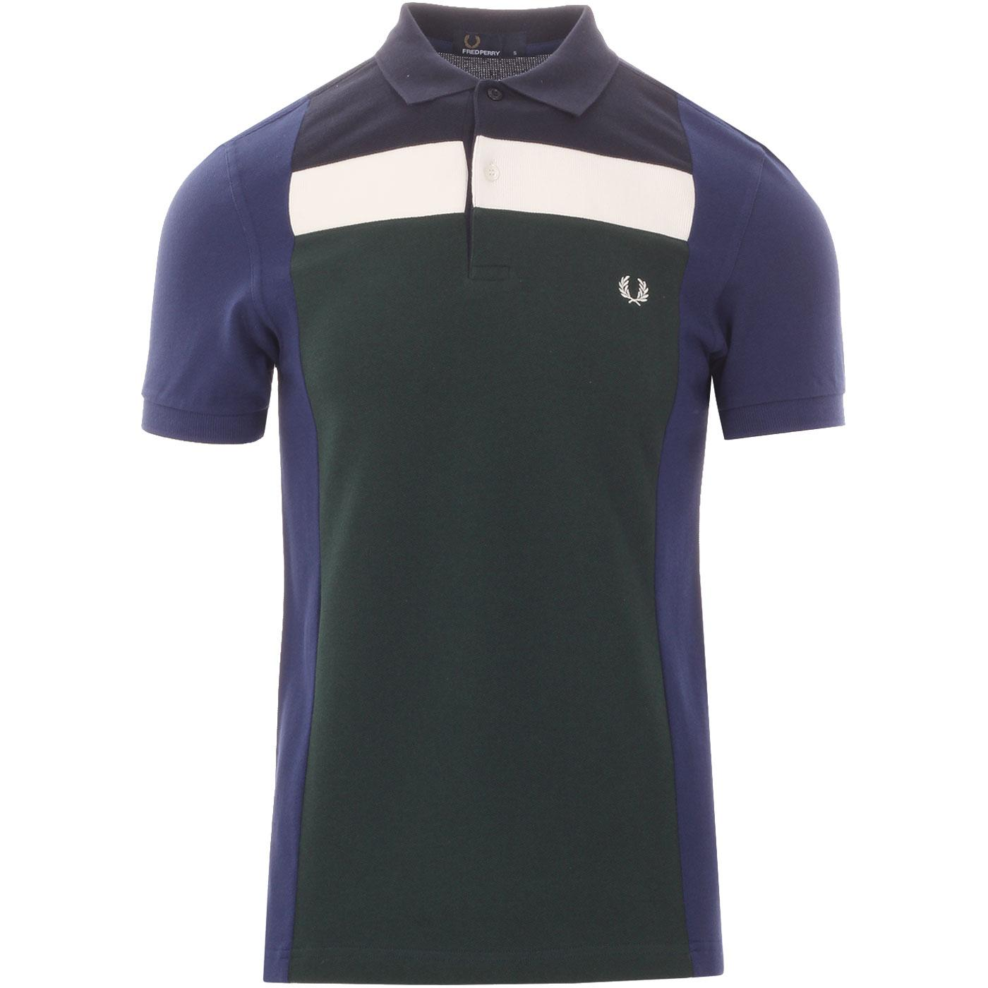 FRED PERRY Men's Mod Block Panel Pique Polo Shirt