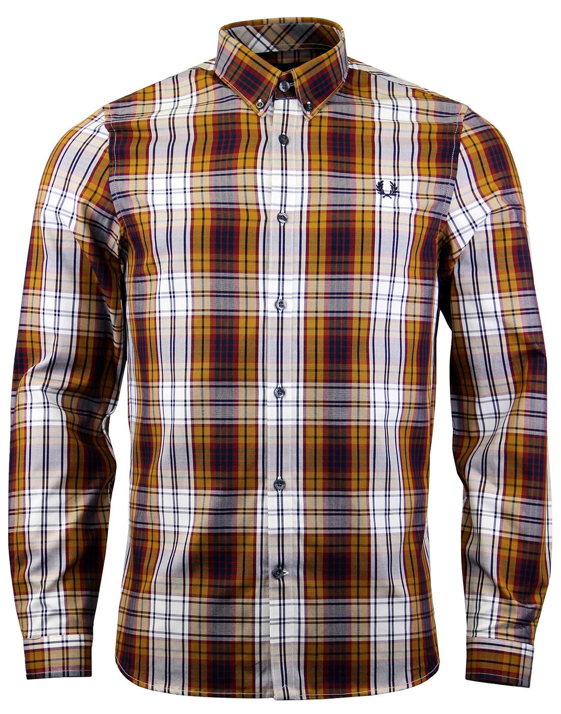 FRED PERRY Retro Mod Bold Tartan Check Shirt (Mu)