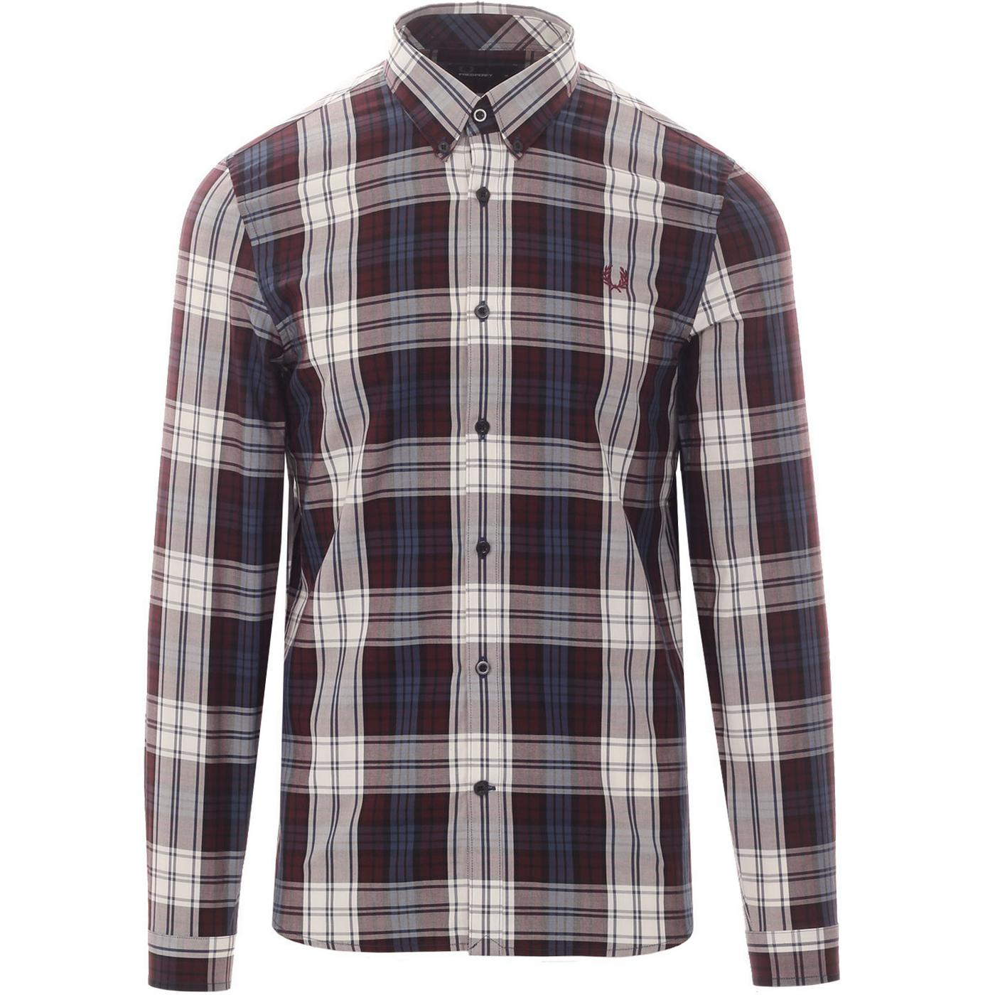 FRED PERRY Men's Mod Bold Tartan Check Shirt M