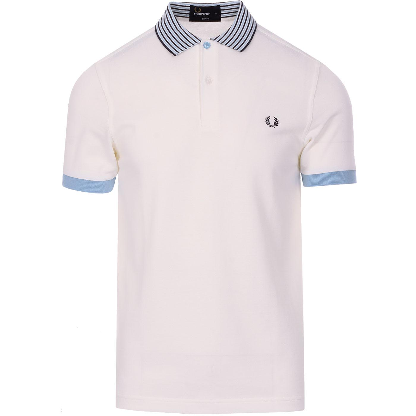 FRED PERRY Mens Bomber Stripe Collar Pique Polo SW
