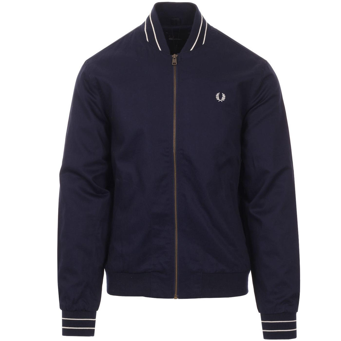 FRED PERRY Men's Retro Tipped Bomber Jacket CB