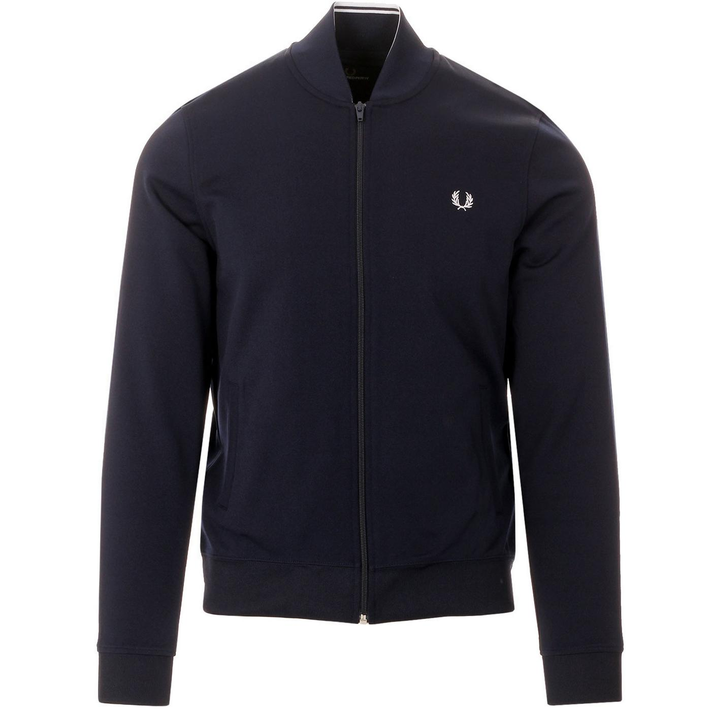 FRED PERRY Mens Tipped Bomber Neck Track Jacket