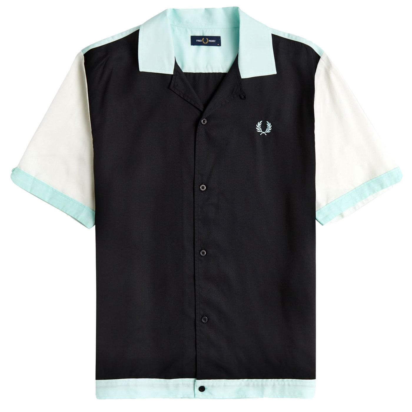 FRED PERRY Retro Mod Colour Block Bowling Shirt
