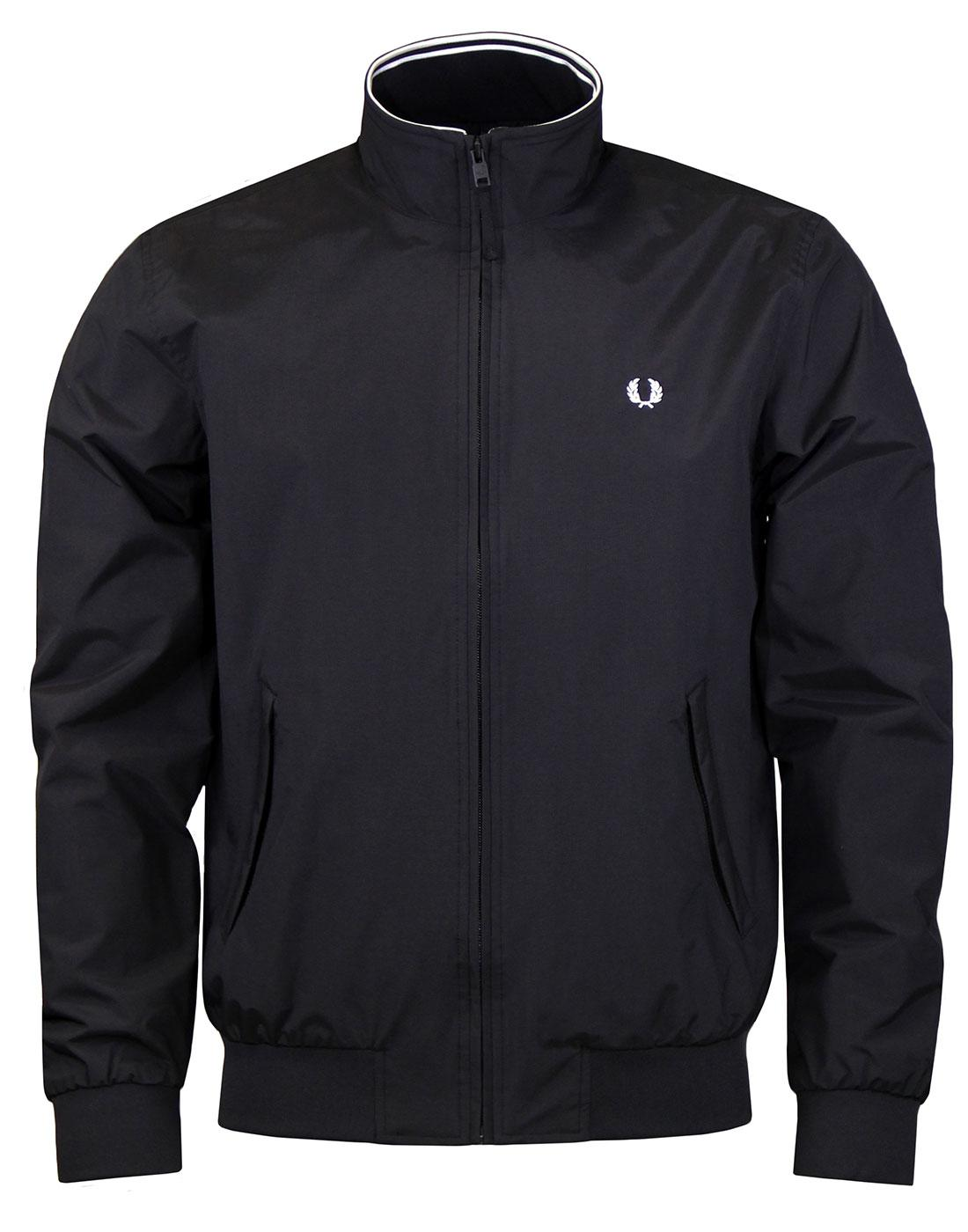 Brentham FRED PERRY Tipped Harrington Jacket BLACK