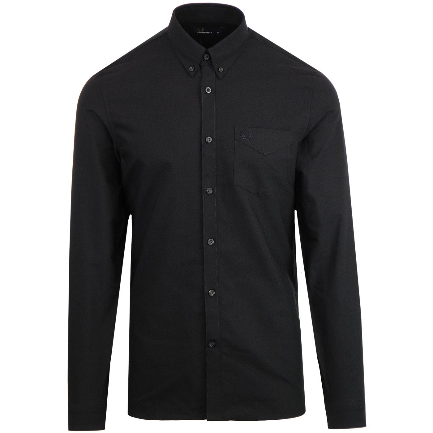 FRED PERRY Men's Classic Mod Oxford Shirt (Black)