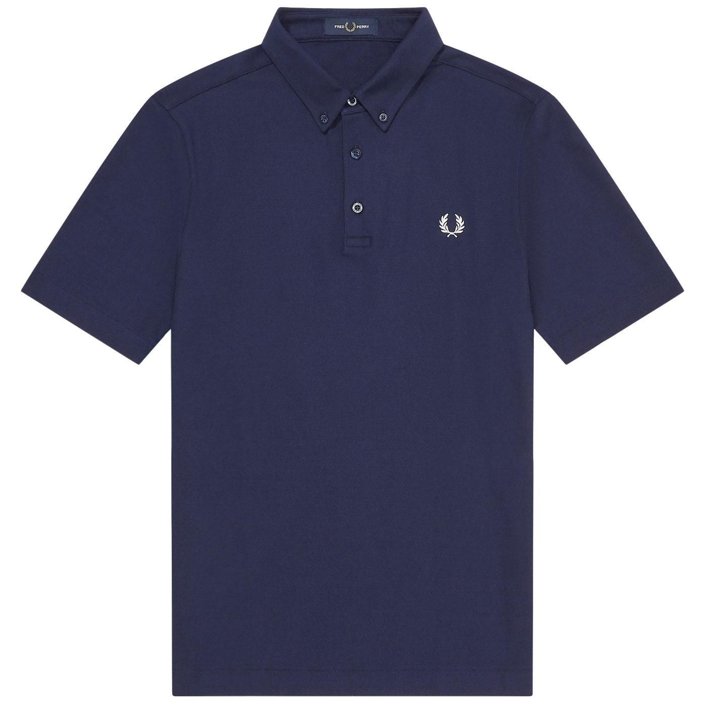 FRED PERRY Men's Button Down Mod Pique Polo Top CB