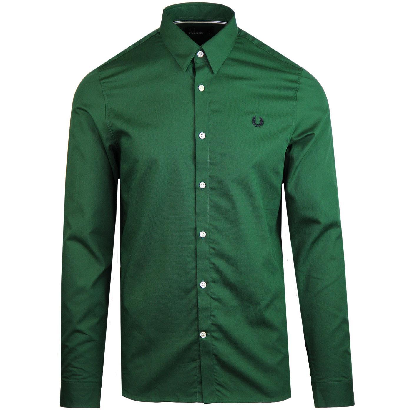 FRED PERRY Mod Button Under Shirt (Tartan Green)