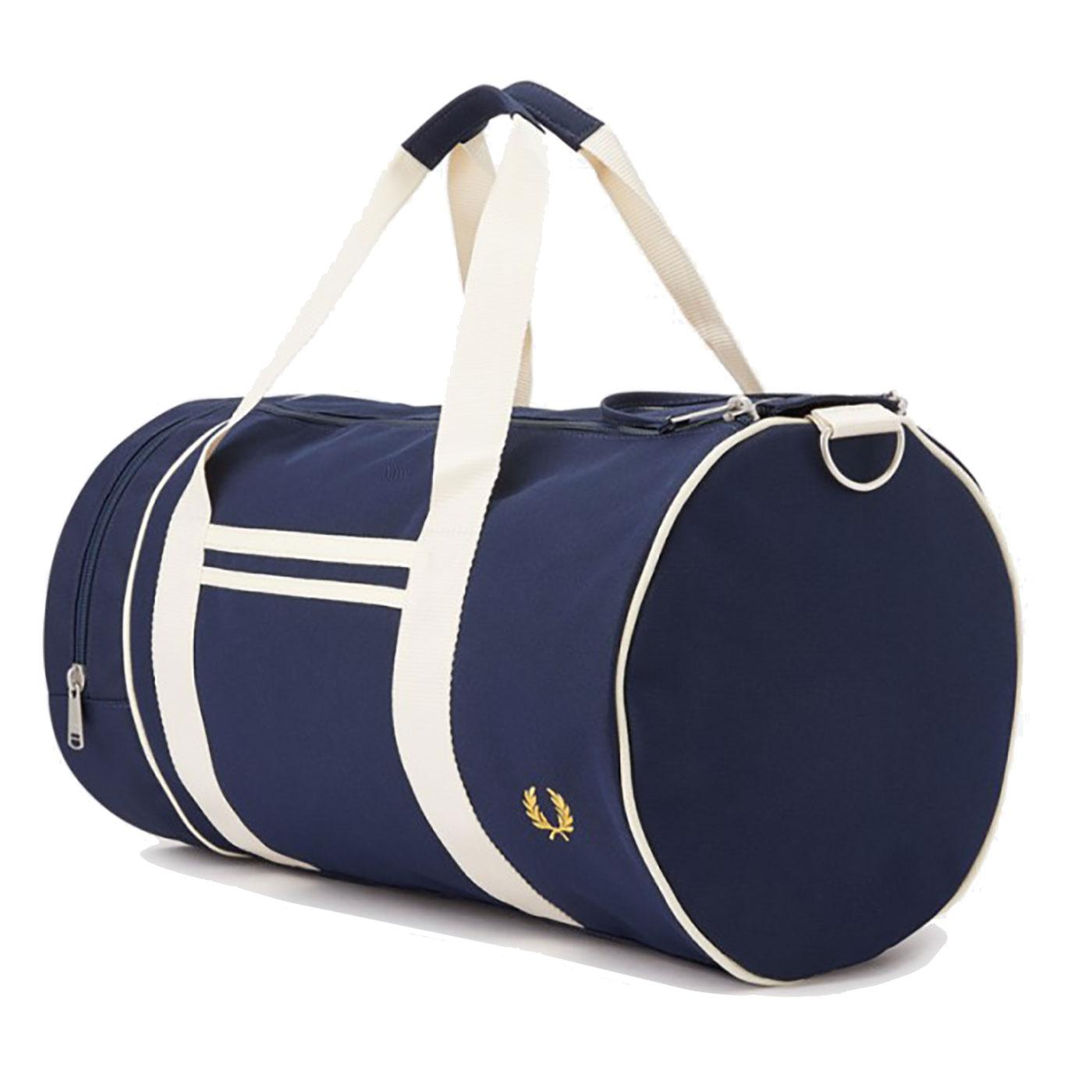 FRED PERRY Retro Twin Tipped Canvas Barrel Bag (N)