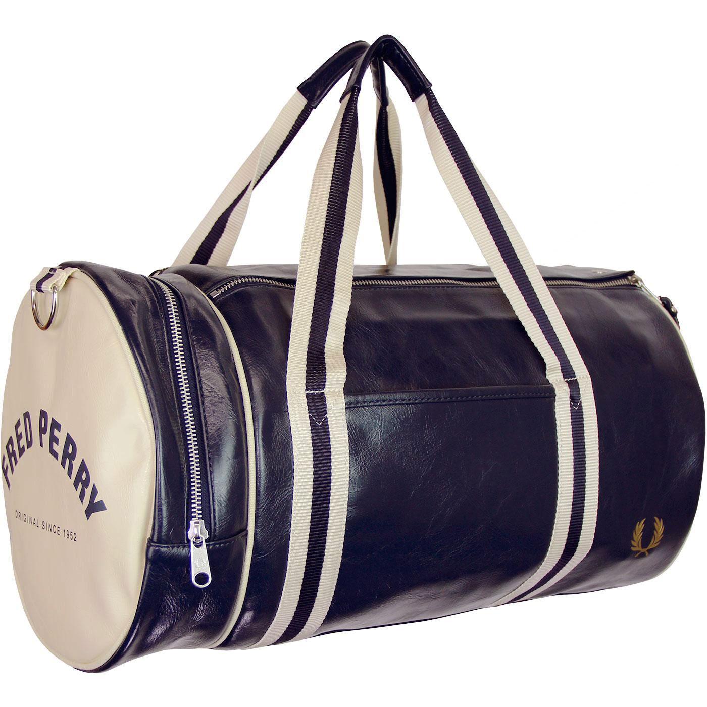 FRED PERRY Retro Classic Barrel Bag - Navy