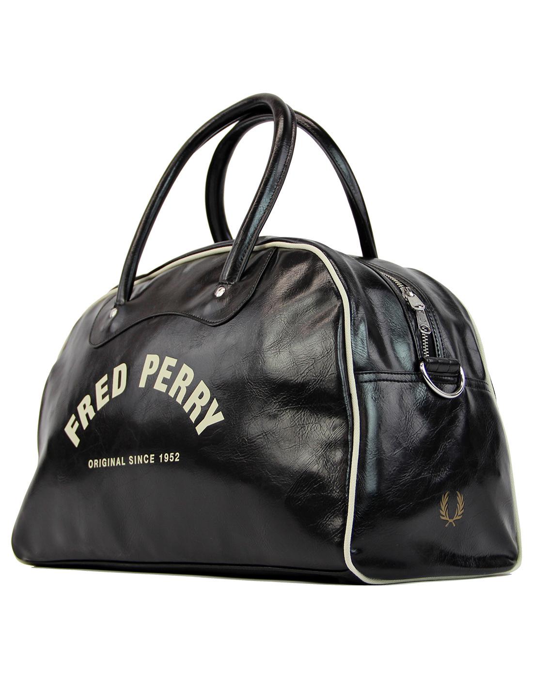 FRED PERRY Retro Classic Grip Weekend Bag B/W