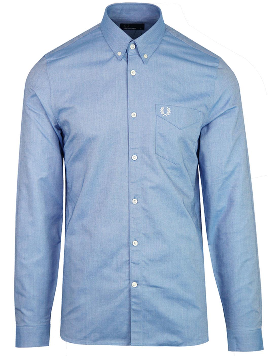 FRED PERRY Men's Retro Classic Mod Oxford Shirt MB