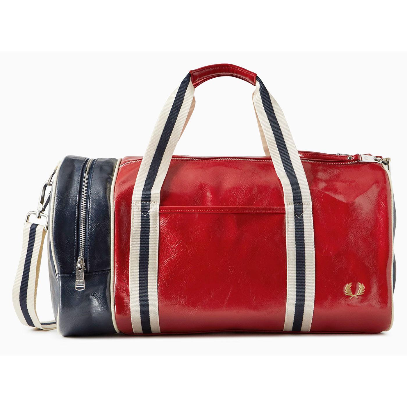 FRED PERRY Colour Block Classic Barrel Bag R/N