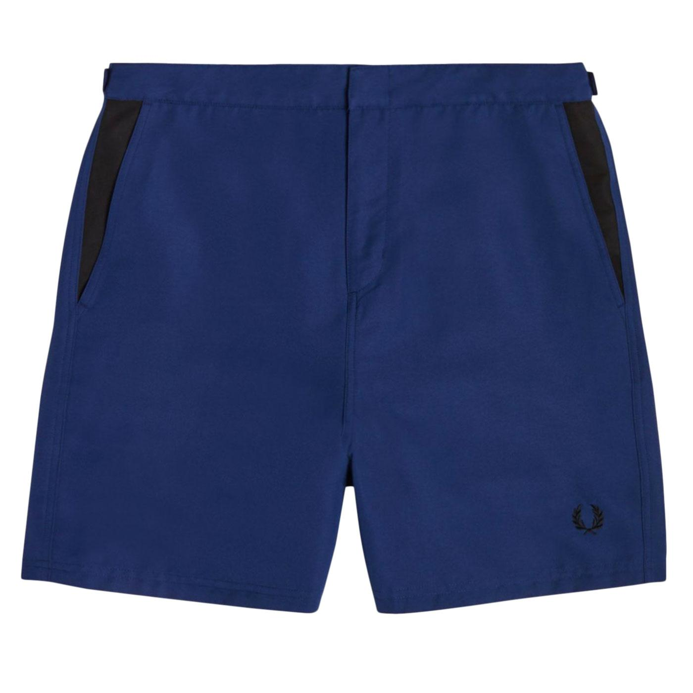 FRED PERRY Retro Contrast Panel Swim Shorts (FN)
