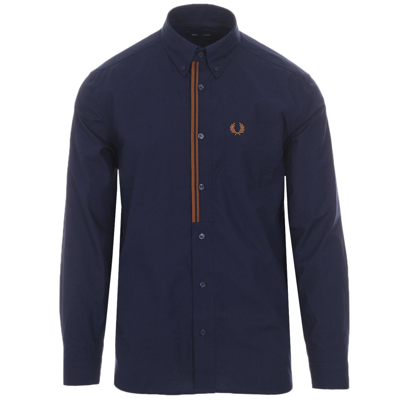 FRED PERRY Taped Placket Button Down Shirt CB