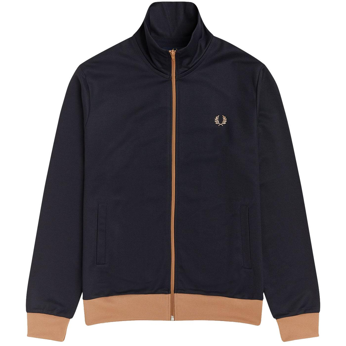 FRED PERRY Mens Retro Contrast Trim Track Top (N)
