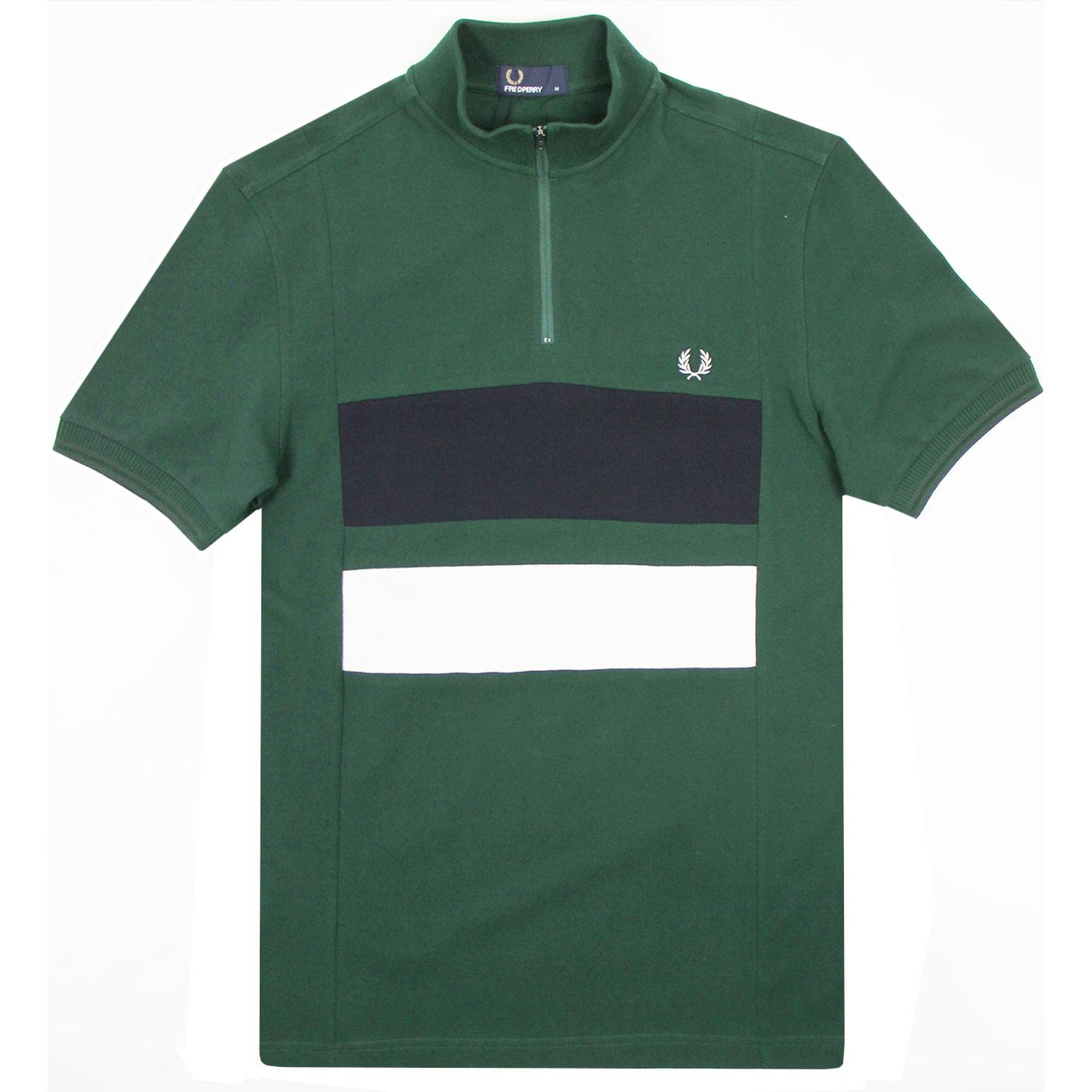 FRED PERRY Colour Block Mod Pique Cycling Top