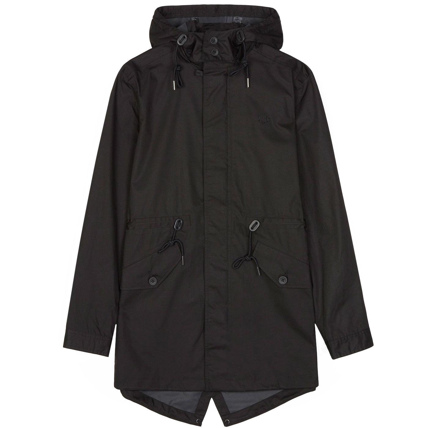 FRED PERRY Men's Mod Fishtail Parka Jacket (Black)