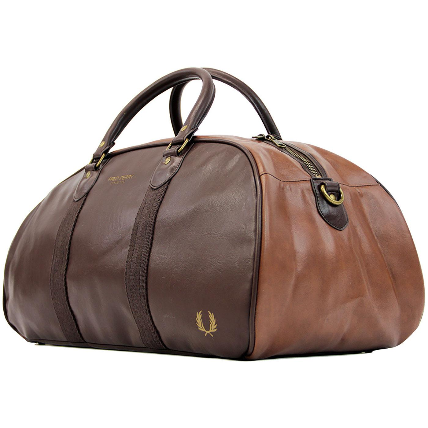 FRED PERRY Retro Authentic Grip Weekend Bag TAN