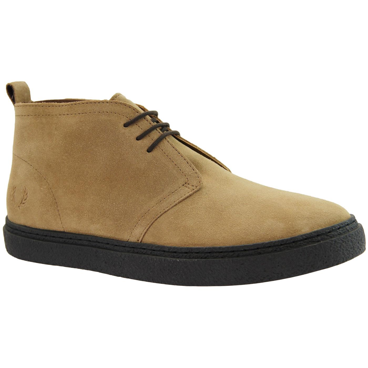 Hawley FRED PERRY Retro Mod Desert Boots - Almond