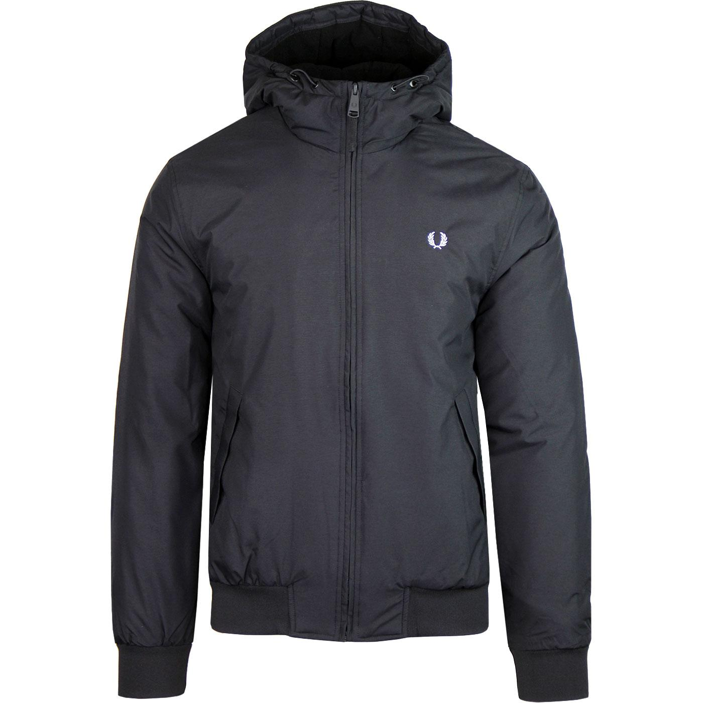 Padded Brentham FRED PERRY Retro Hooded Jacket BL