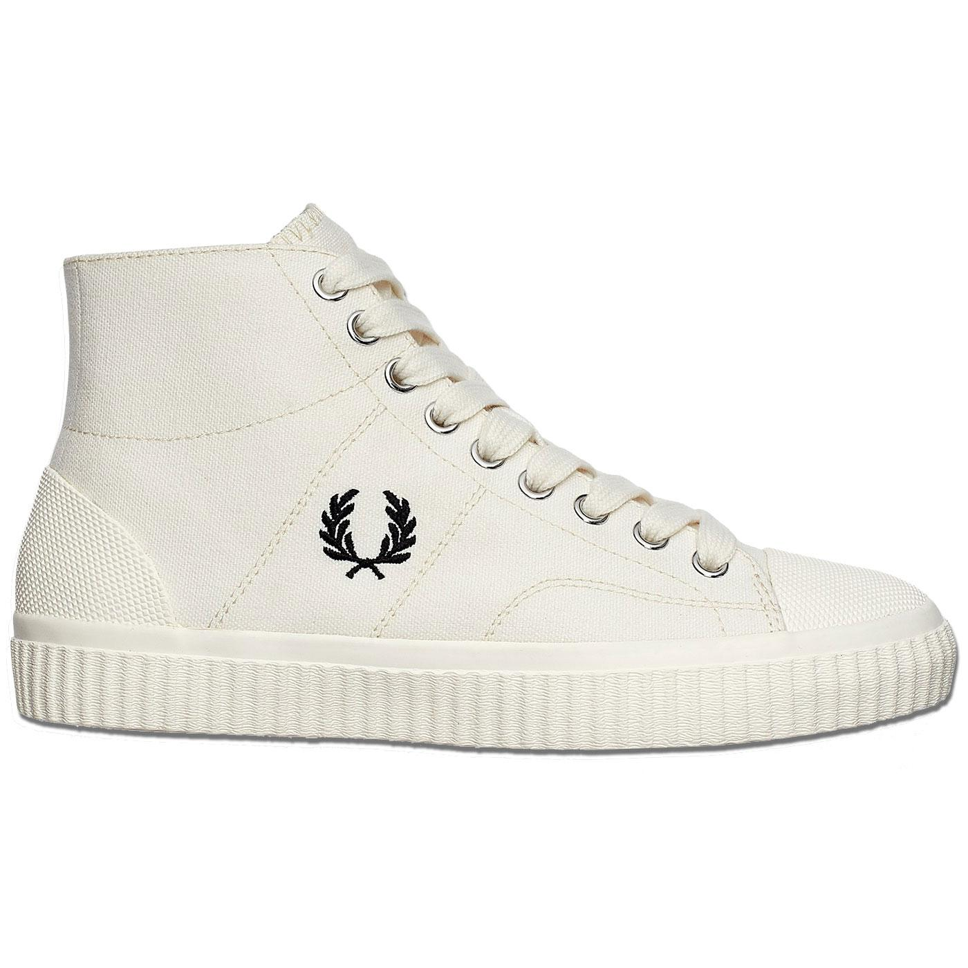 Hughes FRED PERRY Men's Retro Mid Canvas Trainers