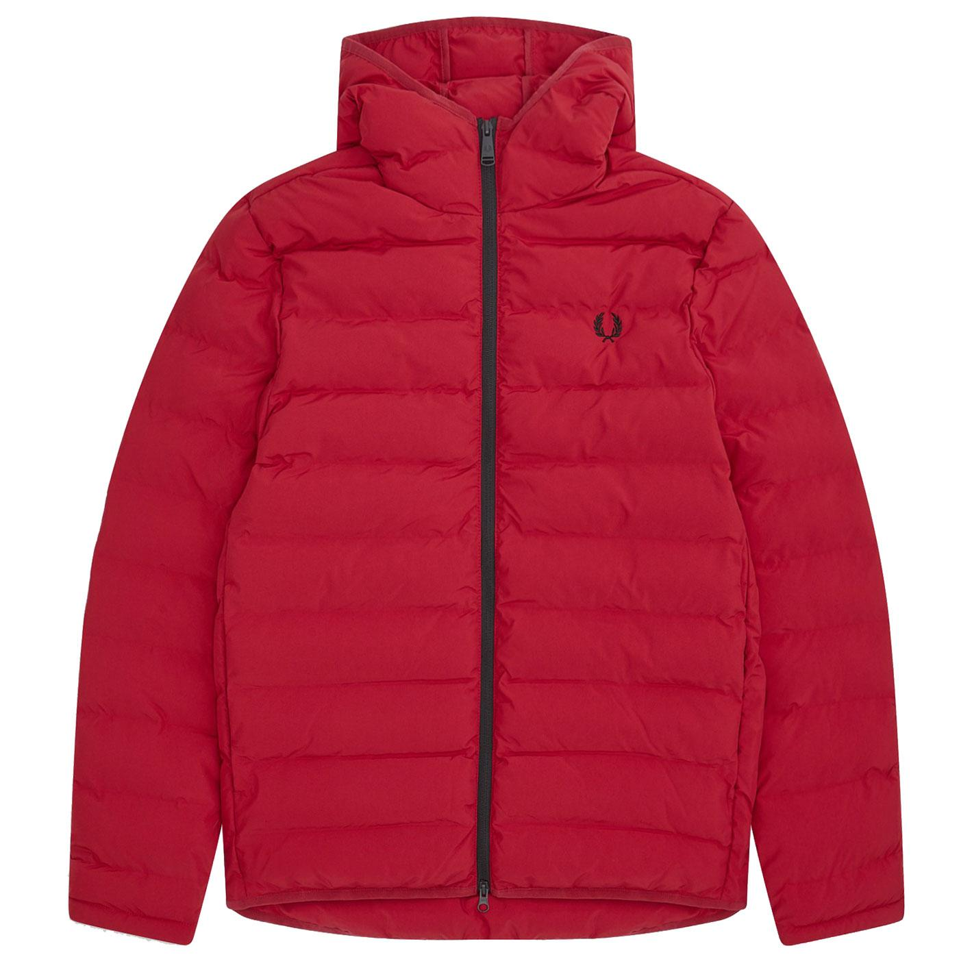 FRED PERRY Insulated Padded Hooded Jacket SIREN
