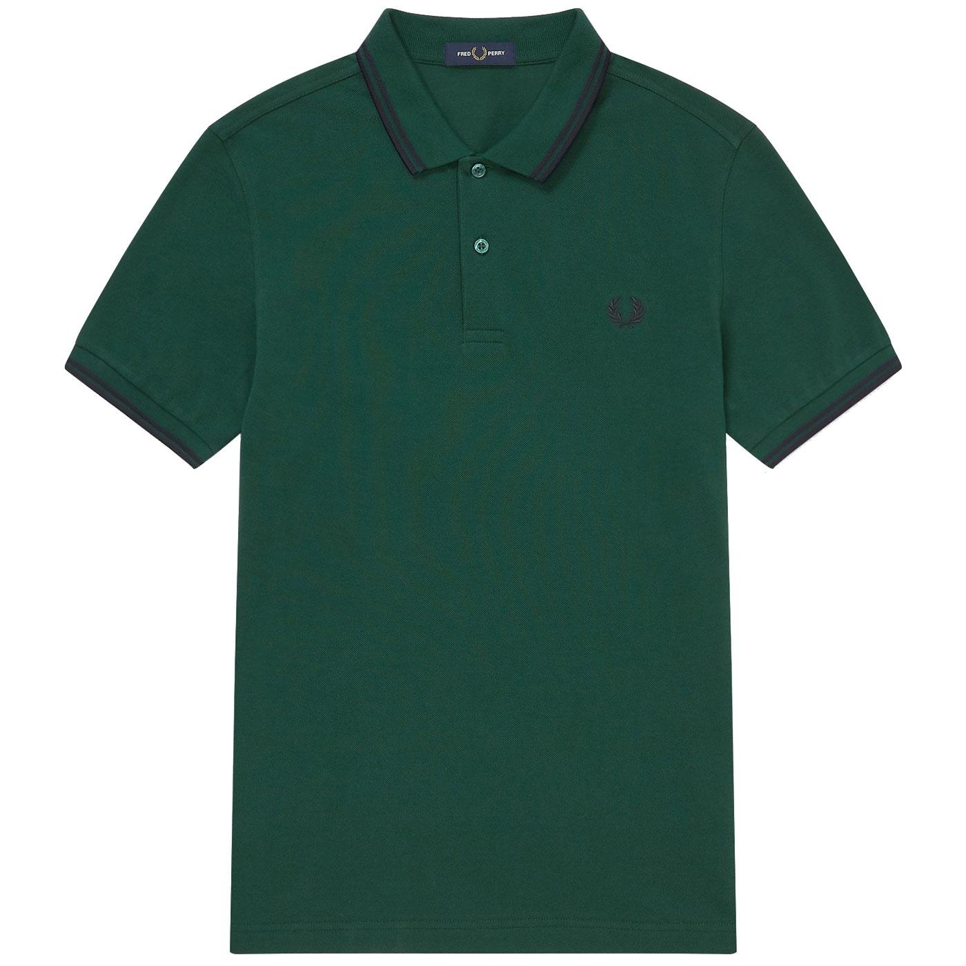 FRED PERRY M3600 Men's Twin Tipped Pique Polo IVY