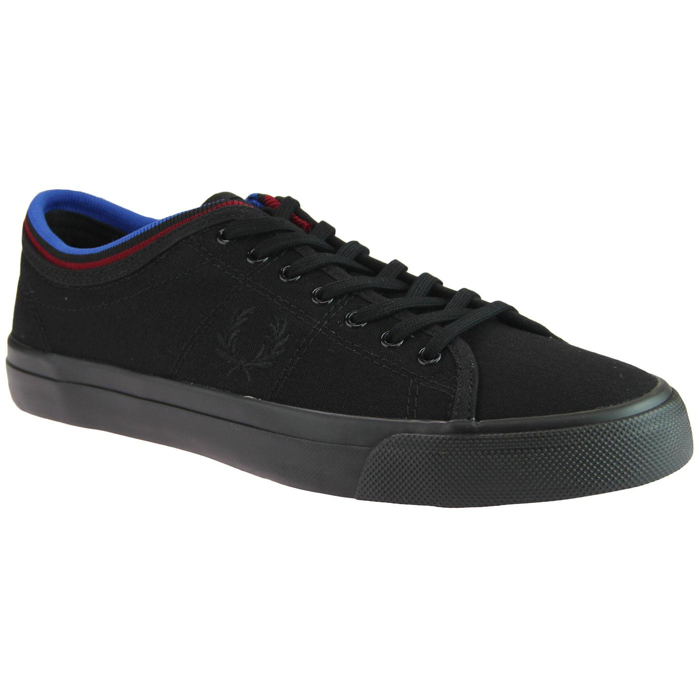 Kendrick FRED PERRY Retro Tipped Canvas Trainers B