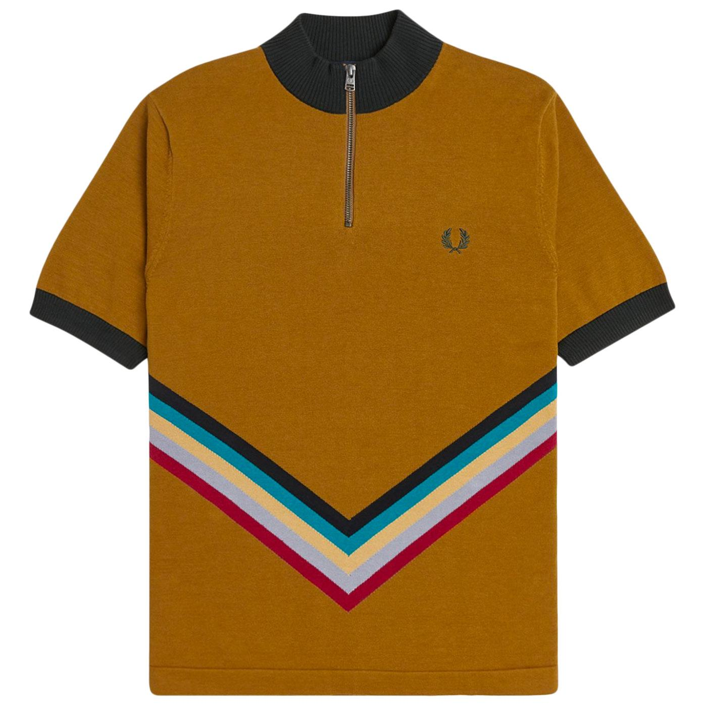 FRED PERRY K1529 Chevron Stripe Knit Cycling Top