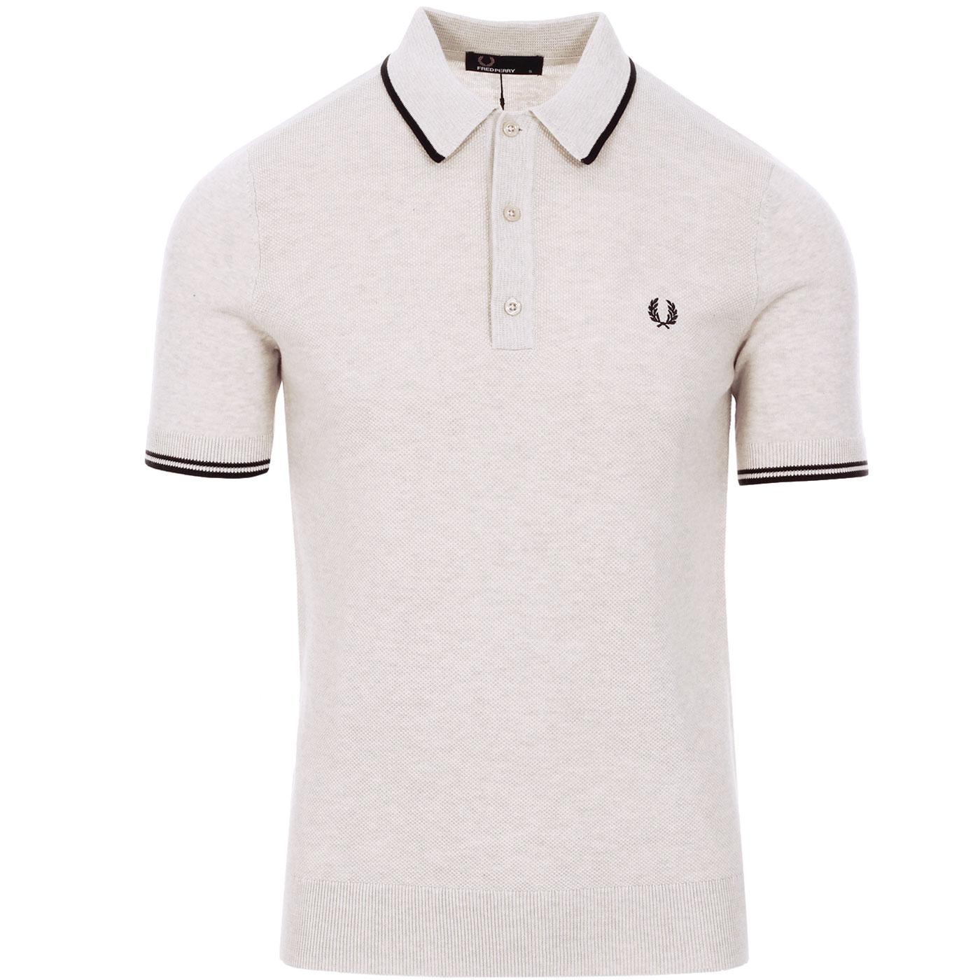 FRED PERRY Men's Mod Tipped Texture Knitted Polo