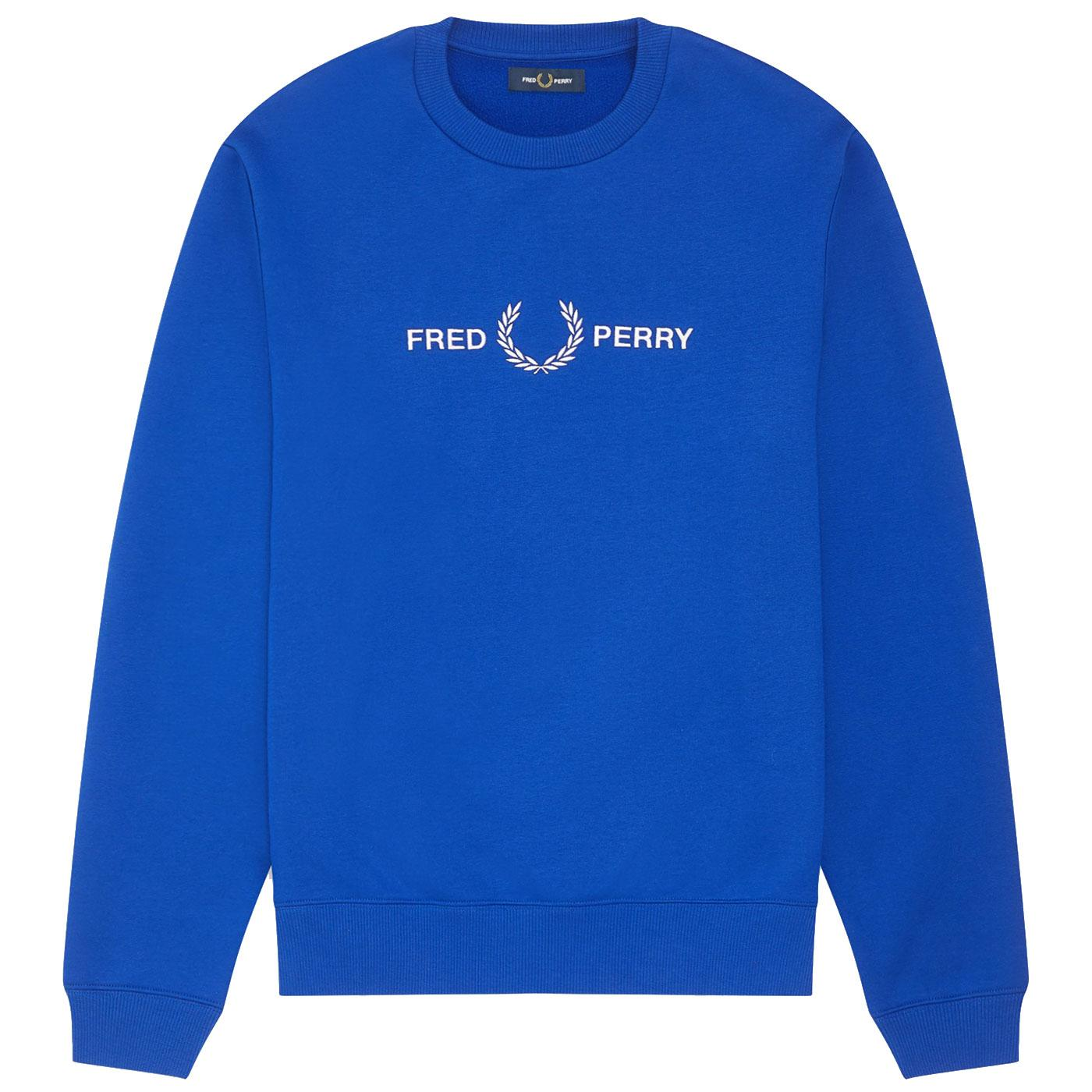 FRED PERRY Men's Graphic Chest Logo Sweatshirt