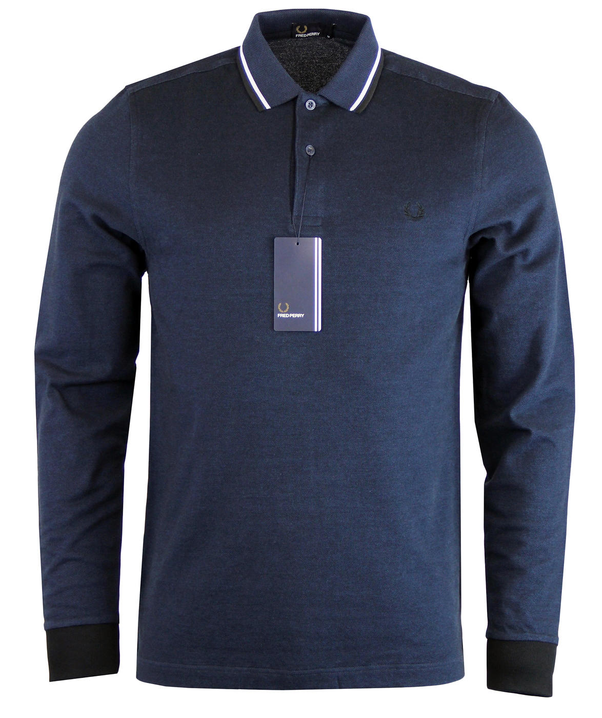 FRED PERRY Retro Mod Indie Twin Tipped LS Polo