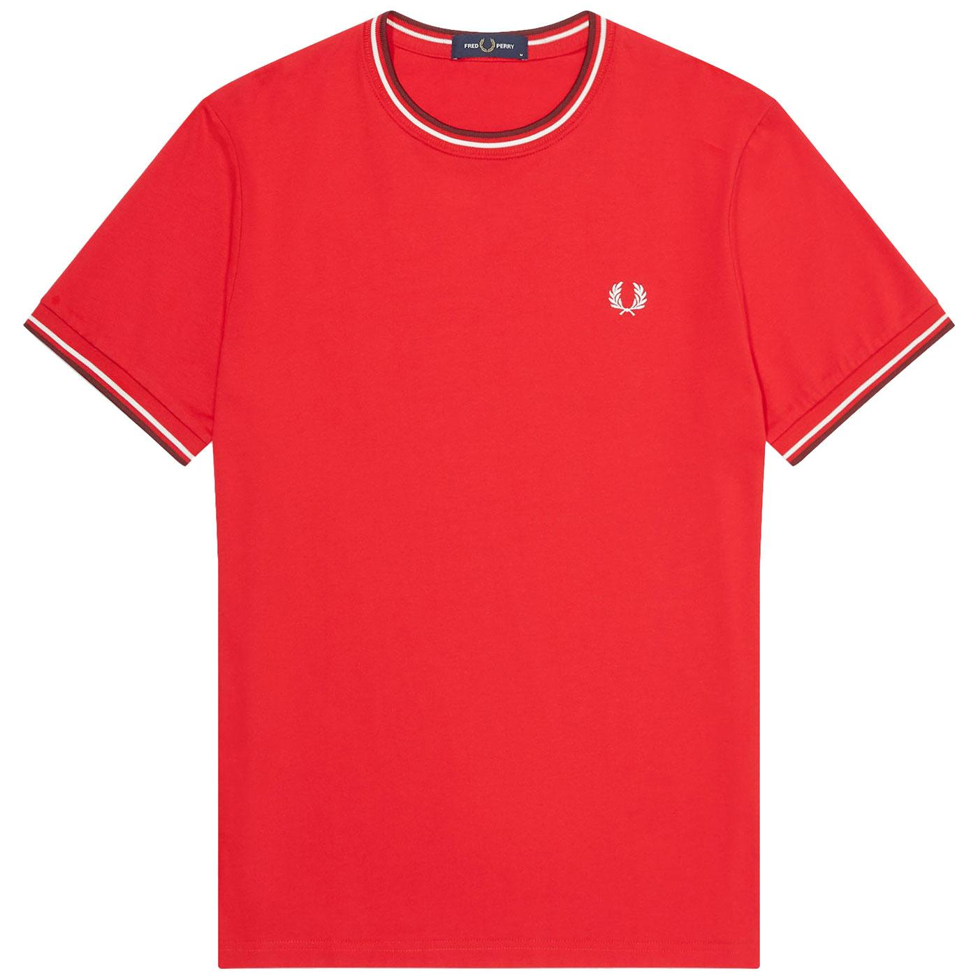 FRED PERRY M1588 Mod Twin Tipped Crew Neck Tee JR