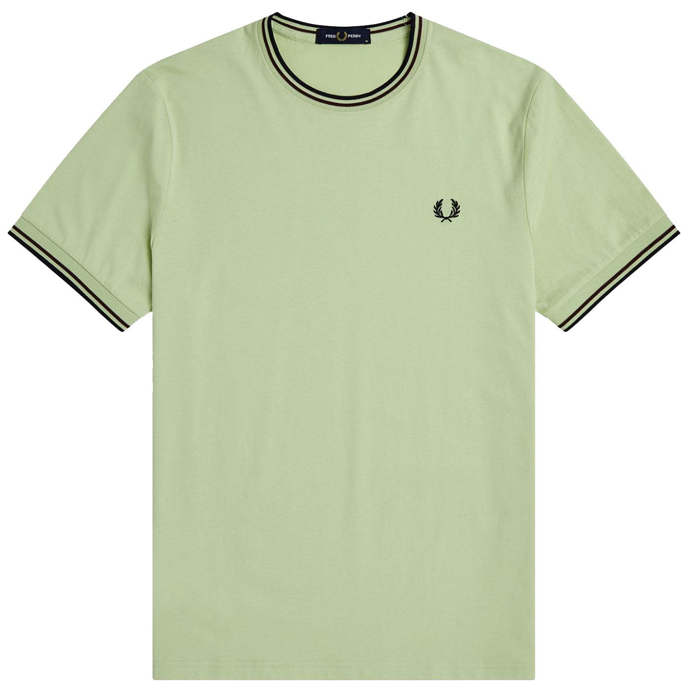 FRED PERRY M1588 Retro Twin Tipped Tee (Willow)