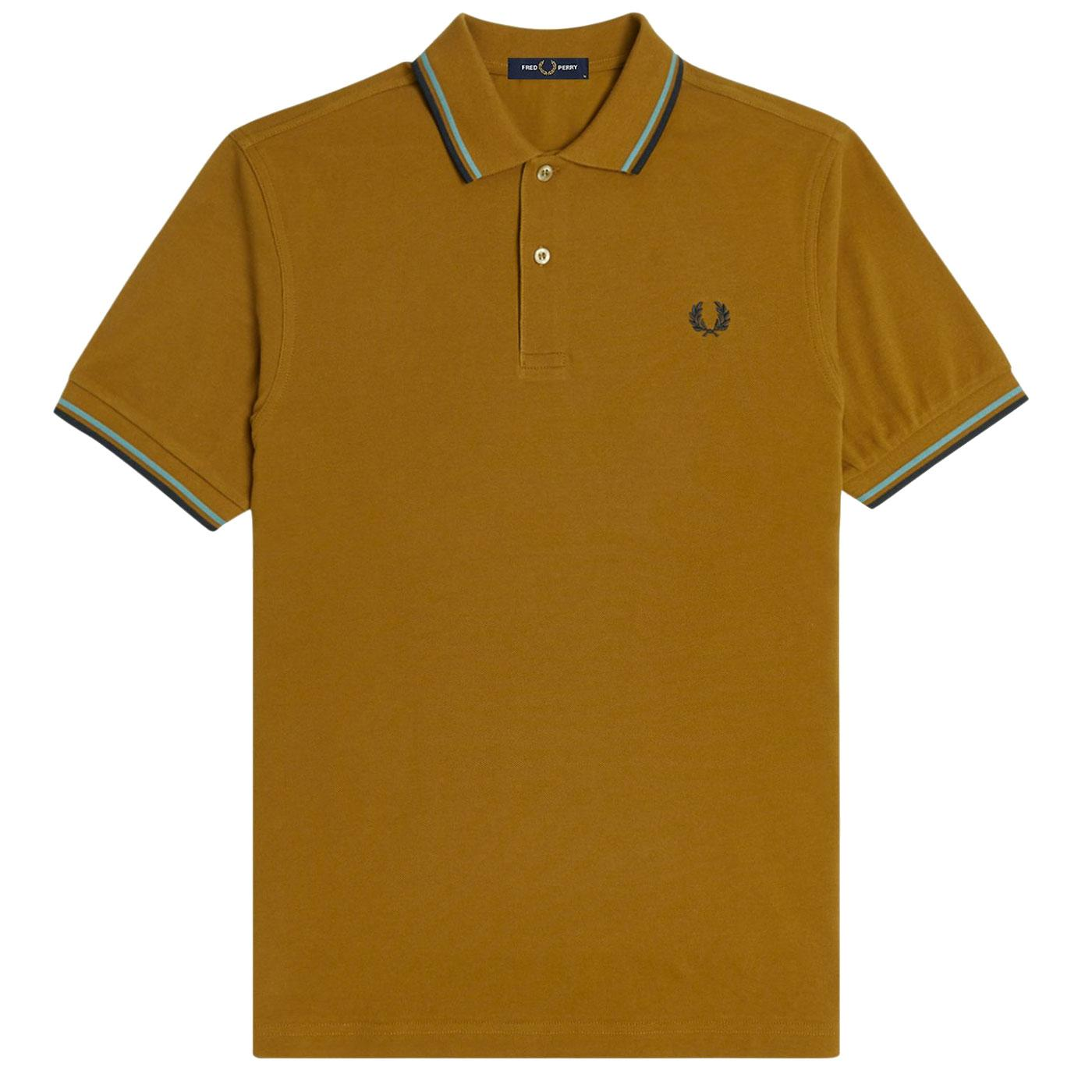 FRED PERRY M3600 Men's Twin Tipped Pique Polo DC