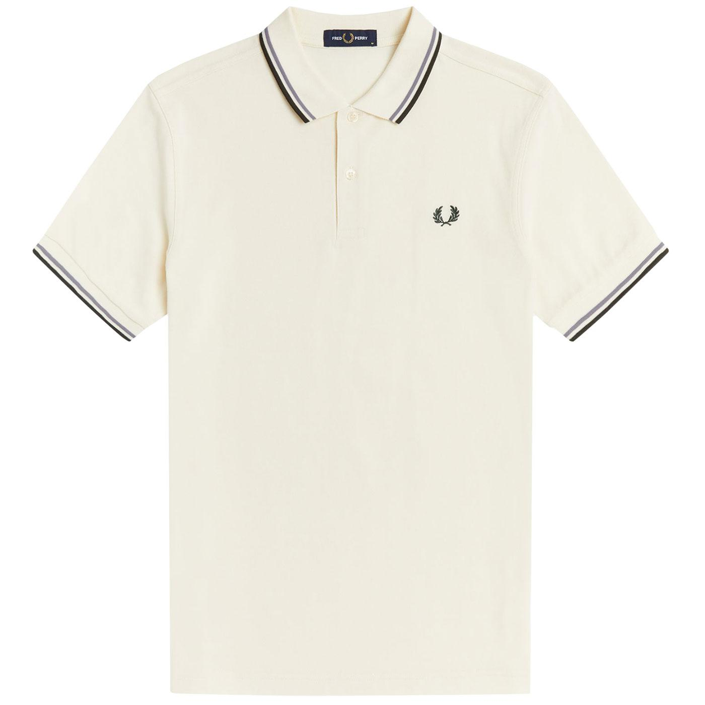 FRED PERRY M3600 Mens Twin Tipped Pique Polo E/S/G