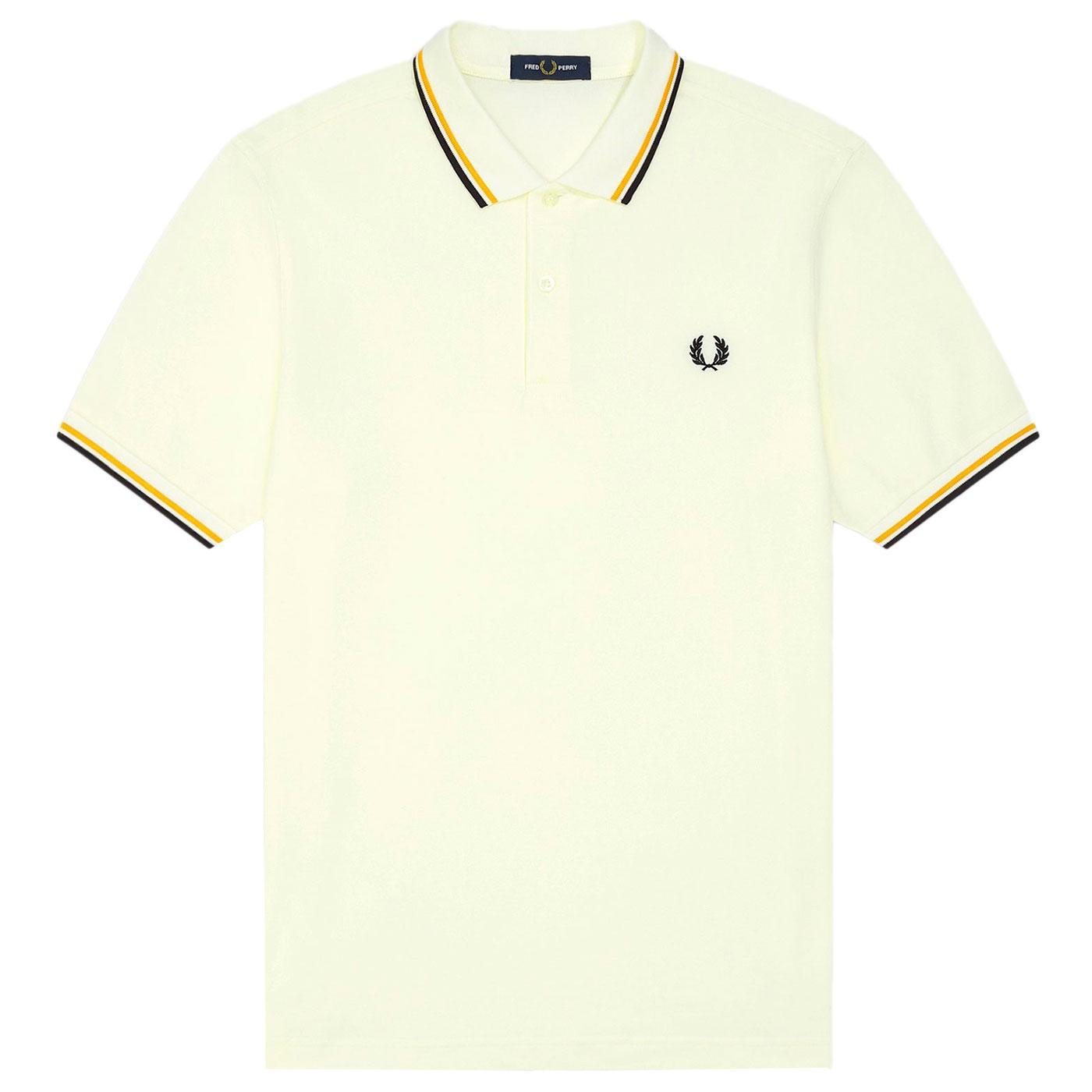 FRED PERRY M3600 Mod Twin Tipped Polo Shirt S/G/B