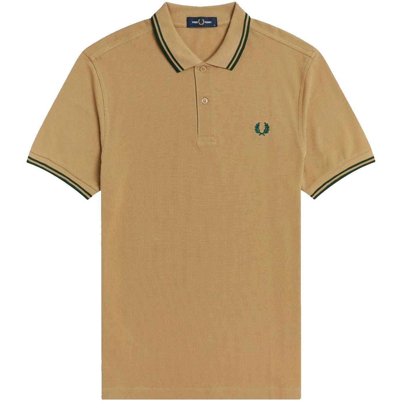 FRED PERRY M3600 Mens Twin Tipped Pique Polo WS