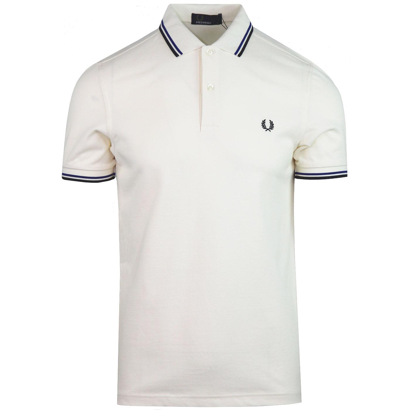 FRED PERRY M3600 Mod Twin Tipped Polo Shirt (Ecru)