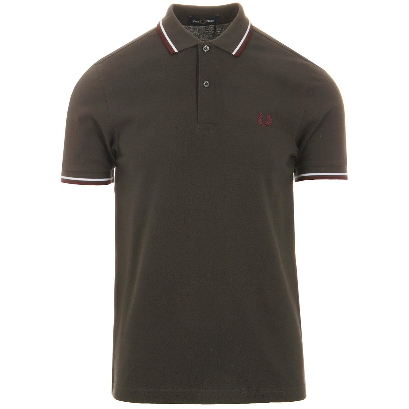 FRED PERRY M3600 Mod Twin Tipped Pique Polo A/W/M