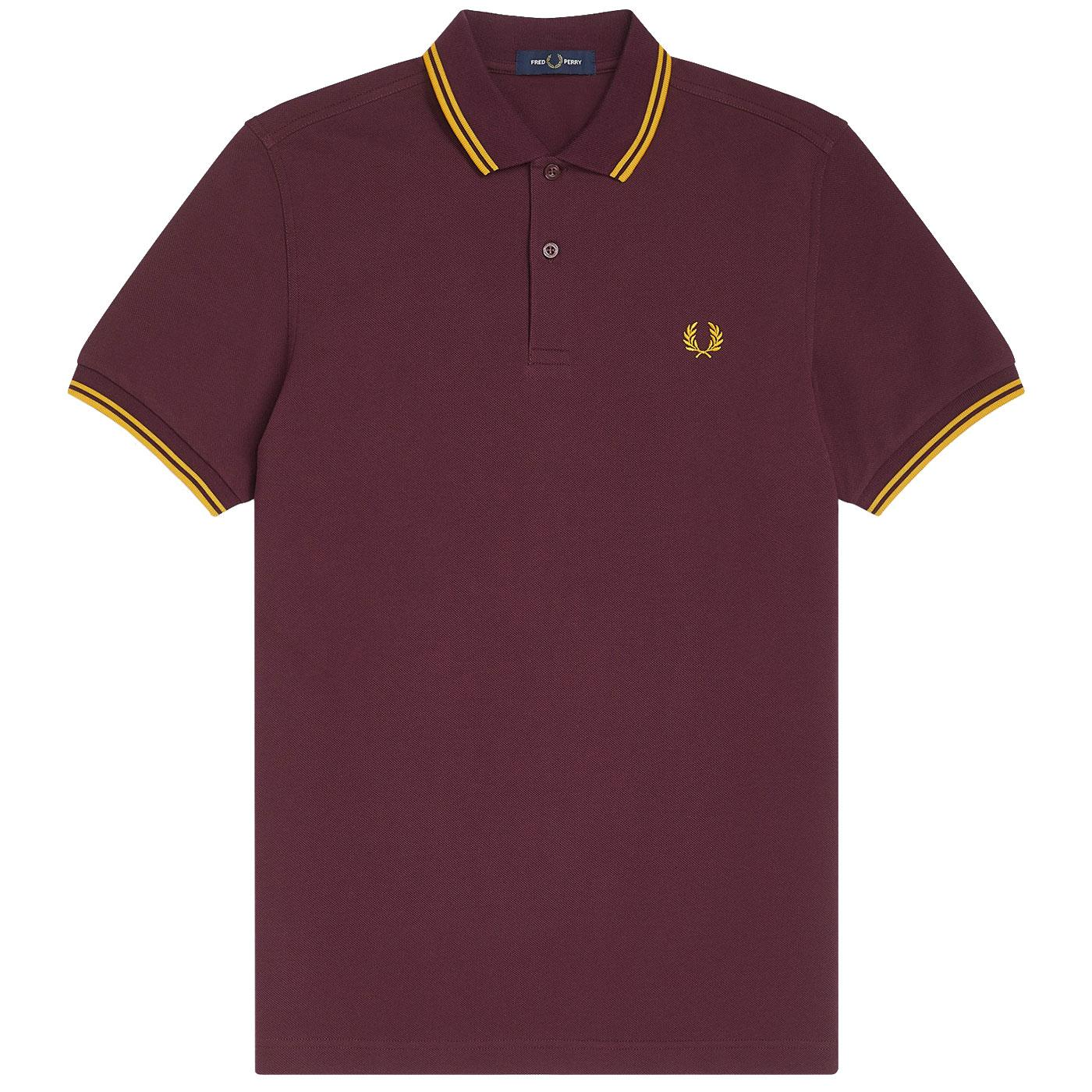 FRED PERRY M3600 Twin Tipped Pique Polo Shirt M/G